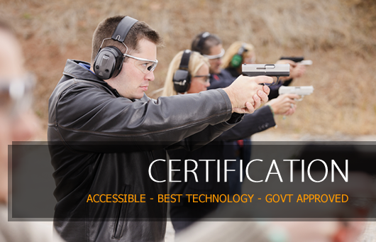 Certification at Range 82 is accessible with the best in technology and Government approved