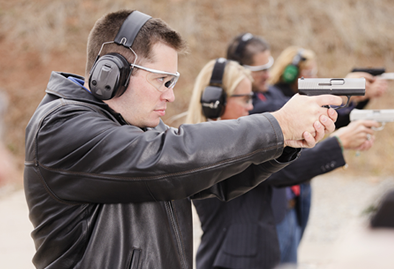Shooting Pistols at the range